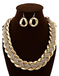Mulheres Conjunto de Jóias Brincos Compridos Colares Declaração Bijuterias Destaque Europeu Jóias de Luxo bijuterias Acrílico Jóias