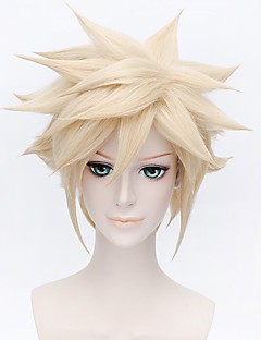Cosplay Wigs Cosplay Cosplay Golden Short Anime Cosplay Wigs 30 CM Heat Resistant Fiber Male / Female