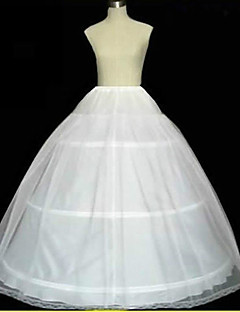 Slips A-Line Slip/Ball Gown Slip/Chapel Train Floor-length 2 Tulle Netting White