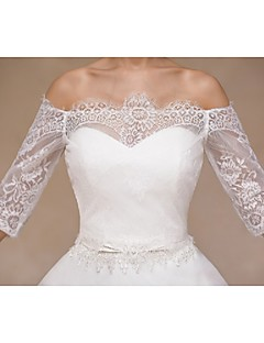 casamento envolve boleros meia-luva de renda bege encolher de ombros bolero