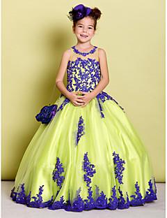 Ball Gown Floor-length Flower Girl Dress - Tulle Sleeveless