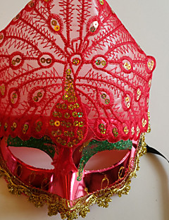 Mask Cosplay Festival/Holiday Halloween Costumes Red Solid Mask Halloween Unisex