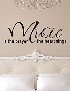 quote væg decals musik er bøn hjerte aftagelige vinyl wall stickers home decor zy8197 væg kunst decals