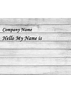 personifizierte Name Tag Sticker horizontal Landhausdiele (set of 18pcs)