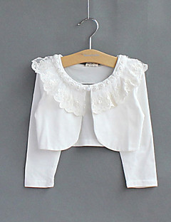 Çocuklar beyaz / pembe bolero silkmek uzun kollu dantel / polyester parti / casual tatlı inci boleros sarar