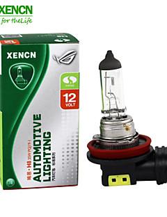 2PCS XENCN H8 12V 35W 3200K Emark Clear Series Standard Halogen UV Quartz Fog Lamp