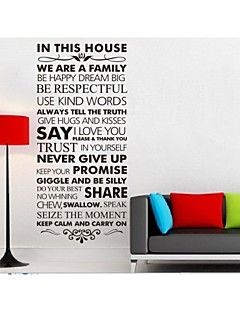 Nós somos uma família decoração de parede Citação casa decalque zy8084 diy Adesivo de Parede de vinil removível parede de adesivos