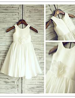 Blumenmädchen Kleid A-Linie - Juwel-Ausschnitt - wadenlang ( Taft )
