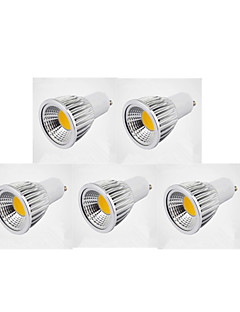 7W GU10 Spot LED MR16 1 COB 600 lm Blanc Chaud / Blanc Froid / Blanc Naturel Gradable AC 110-130 / AC 100-240 V 5 pièces