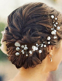 Women's Imitation Pearl Headpiece-Wedding / Special Occasion Hair Pin 6 Pieces