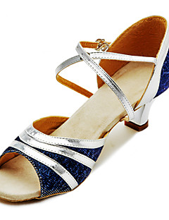 tilpasse ytelse dans sko lær / paillette øvre latin sko for kvinner