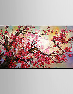 öljymaalaus luumu kukka flowerhand maalattu kangas venytetty kehystetty