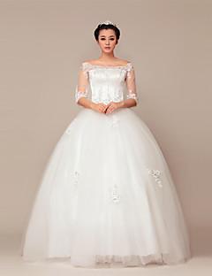 belle robe de mariée bretelles dentelles dgagées