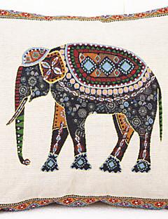 färgad elefant örngott (16,5 * 16,5 tum)