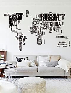 Ord & Citater abstrakt Vægklistermærker Fly vægklistermærker Dekorative Mur Klistermærker Materiale Kan fjernes Hjem Dekoration