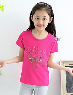 女の子の プリント ニット,Tシャツ 夏 ピンク / レッド / ホワイト / グレー