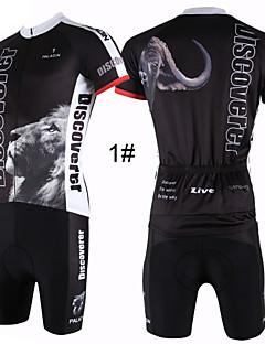 ILPALADINO Biciklistička majica s kratkim hlačama Muškarci Kratki rukav Bicikl Biciklistička majica Kratke hlače Kompleti odjećeQuick dry