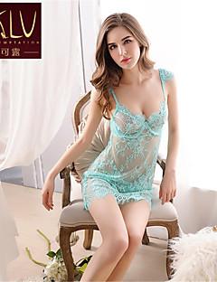 חליפות Nightwear אחיד אורגנזה ורוד / ירוק / שחור נשים