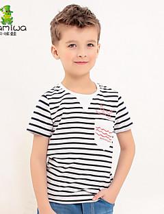 Katoen-Zomer-Boy's-T-shirt-Gestreept
