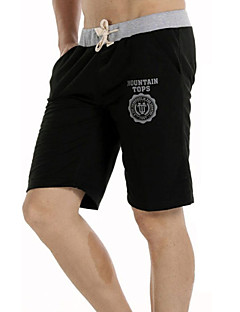 Men's Casual/Sport Print Comfortable Beach Shorts Shorts Pants (Cotton)