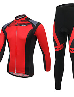 Cycling Jersey with Tights Men's Long Sleeve Bike Breathable / Ultraviolet Resistant / Wearable / 3D Pad / Back PocketBib Shorts / Jersey