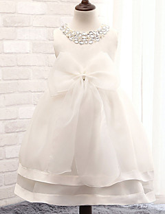 Ball Gown Tea-length Flower Girl Dress - Cotton/Tulle/Sequined/Polyester Sleeveless