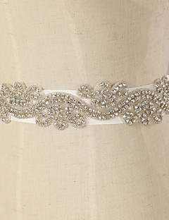 Satin Wedding/Party/ Evening Sash - Rhinestone Women's Sashes