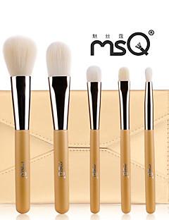 msq® 5pcs Faser goldenen Make-up Pinsel-Sets