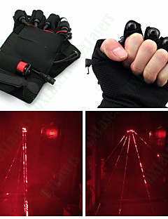 OXLasers  Red Laser Gloves for Laserman Show DJ with Led Palm Light and 4 Red Laser Pointer(5mw, 650nm, 1*18650, Black)