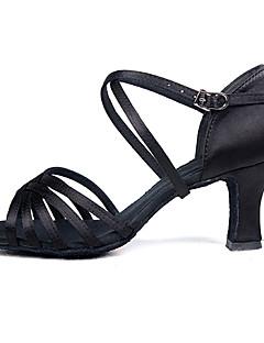 Latin/Salsa - Pantofi de dans (Negru) - Personalizat - Pentru femei