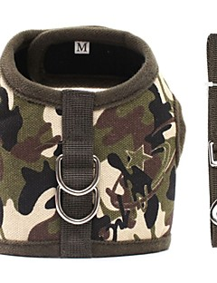 Dog Harness Green / Brown Dog Clothes Winter / Spring/Fall Camouflage Casual/Daily