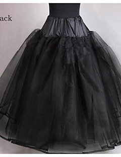 Slips Ball Gown Slip Tea-Length 4 Tulle Netting Black