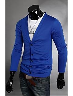 Men's Sexy/Bodycon Long Sleeve Coats & Jackets (Cotton Blend)