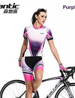 Trajes (Morado) - Transpirable/Secado rápido - de Deportes recreativos/Ciclismo - de Mangas cortas - para Mujer