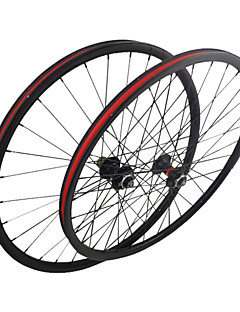 26er-26mm Mtb Bike Wheelsets  Carbon Fiber Mountain Bike Wheels 3k Weave Clear /Matte Finish
