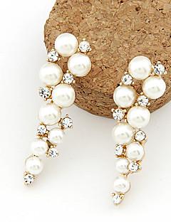 Dame Dråpeøreringer kostyme smykker Perle Imitert Perle Strass Fuskediamant Legering Smykker Til