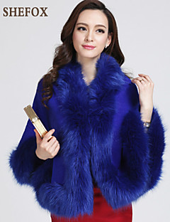 Women Fox Fur Shawl & Wrap (Without Lining) SF7F18