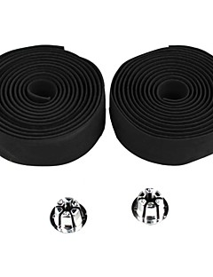 Cycling Bike Bicycle Handlebar Tape Belt Wrap Bar Plugs Black 2 PCS