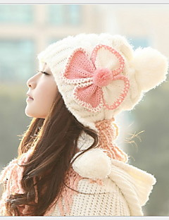 Women Fashion Lovely Hat Warm Earmuffs Knitted Cap