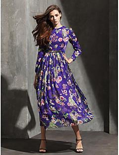 Formal Evening Dress A-line Jewel Tea-length Chiffon