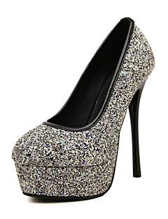 Wedding Shoes - Saltos - Saltos - Prateado / Dourado - Feminino -Casamento / Ar-Livre / Escritório & Trabalho / Social / Casual / Festas
