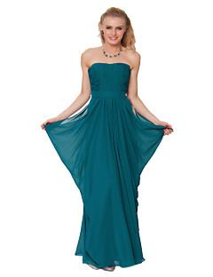 Floor-length Chiffon Bridesmaid Dress -Sheath/Column Strapless