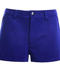 Vardag / Enkel / Semester / Streetchic Shorts Byxor Kvinnors Microelastisk Polyester