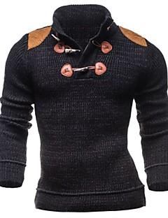 Pánské Jednobarevné Směs bavlny Obyčejný Kardigan Dlouhý rukáv