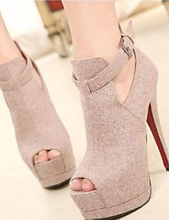 Temperament Suede with Buckle Women's Wedding Stiletto Heel Platform Pumps/Heels Shoes