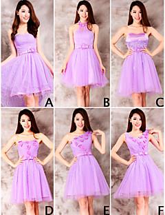 mélanger& robes match mini court tulle / et dentelle robes de demoiselle d'honneur 6 styles (3789963)