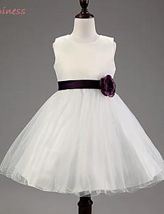 Girl's Summer/Spring/Fall Micro-elastic Medium Sleeveless Dresses (Acrylic/Mesh/Organza/Polyester/Satin)
