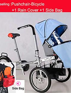 """Hele settet sportsvogn-sykkel for enkelt babyen + regntrekk + side bag ruituo ™ 16 """"vogn konvertible barnevogn sykkel"""
