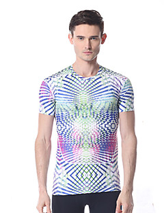 Yokaland Mens Soft Stretchy  Fitness T-Shirt with Print