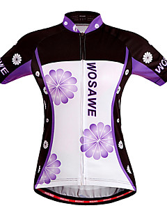 Wosawe® Cycling Jersey Women's Short Sleeve Bike Breathable / Quick Dry / Windproof Jersey / Tops Polyester / 100% PolyesterFloral /